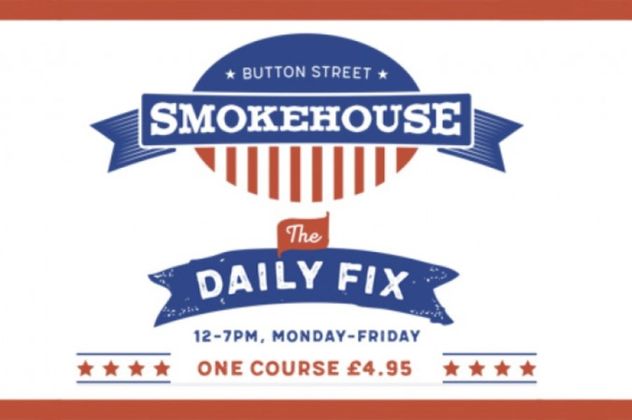 £4.95 lunch served Monday – Friday 12-7pm at Button Street Smokehouse