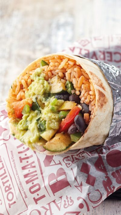 New seasonal veggies (Vegan Society Approved) + free guacamole on all vegan & vegetarian orders at Tortilla!