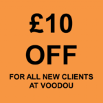 £10 off at Voodou for all new clients