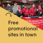 Free promotional sites in Liverpool city centre