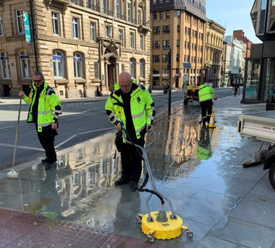 BID Street Rangers - deep cleaning Castle Street