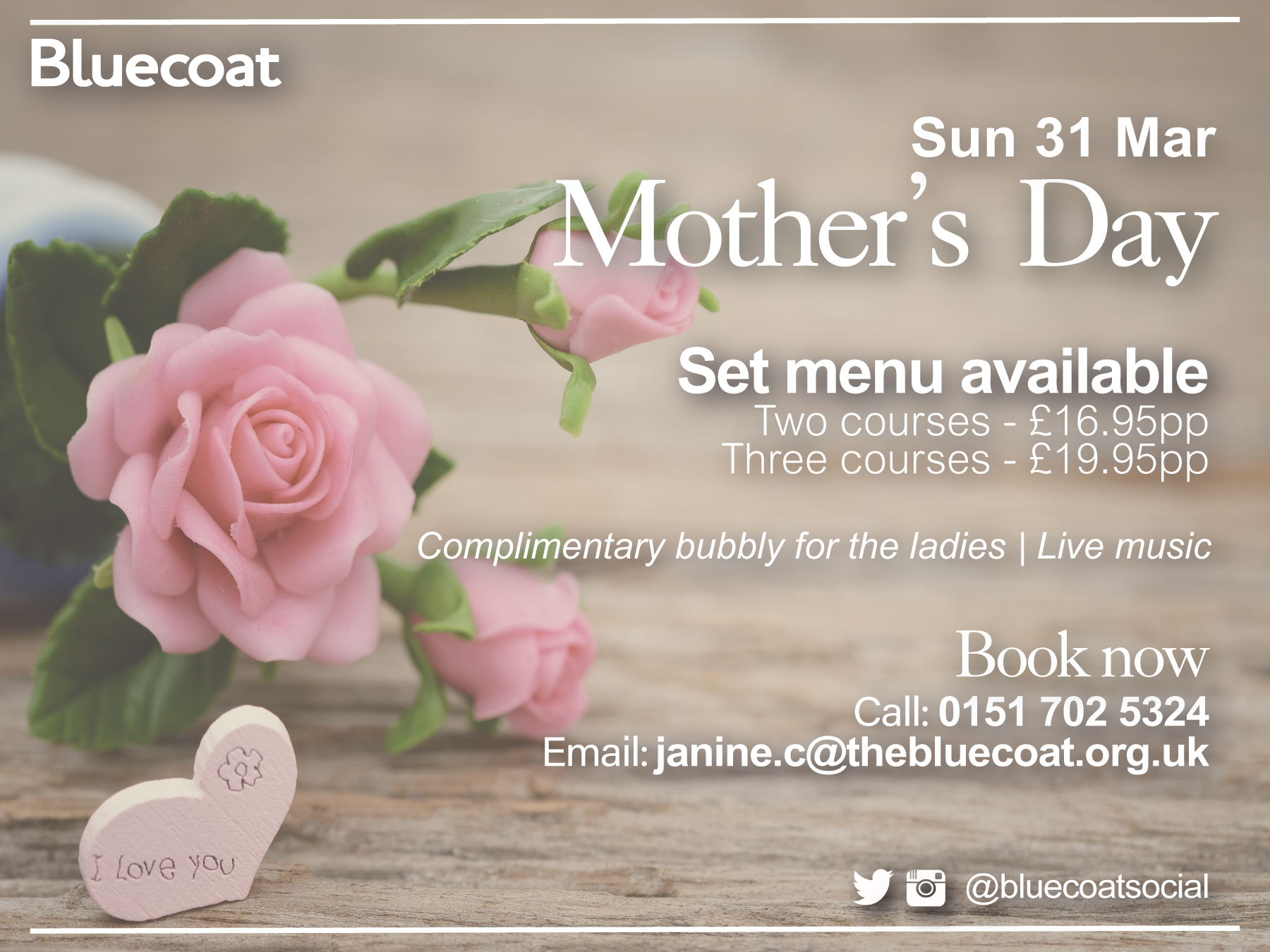 Spend Mother's Day at Bluecoat Liverpool