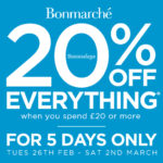 Get 20% off everything at Bonmarché when you spend £20 or more!