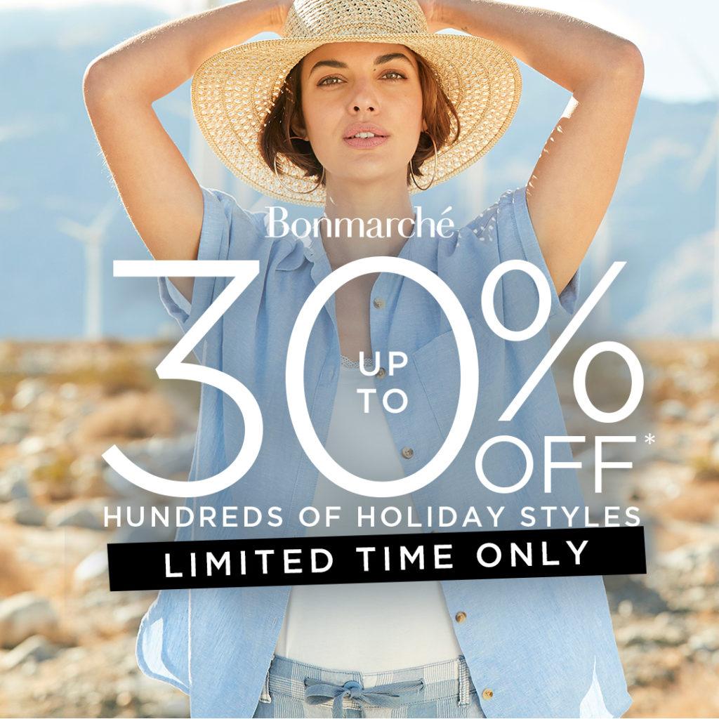 Get holiday ready with up to 30% off hundreds of holiday styles at Bonmarché