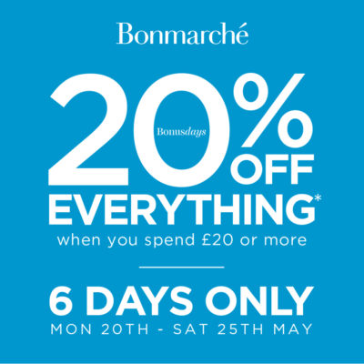 Get 20% off selected items with Bonmarche when spending £20 or more