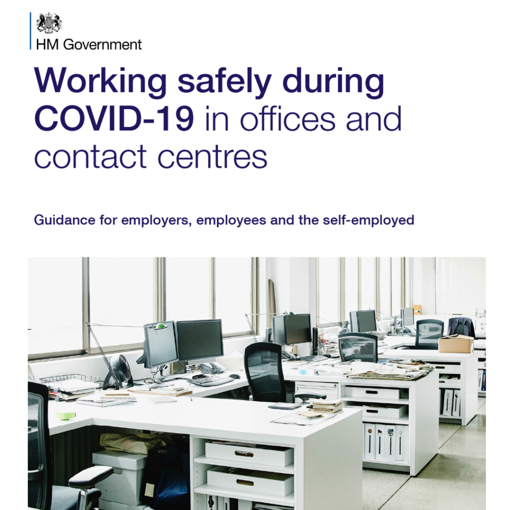 COVID Secure Guidelines - offices and contact centres