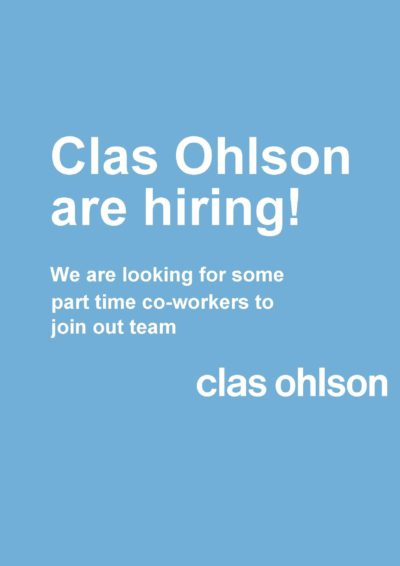 Clas Ohlson are hiring!