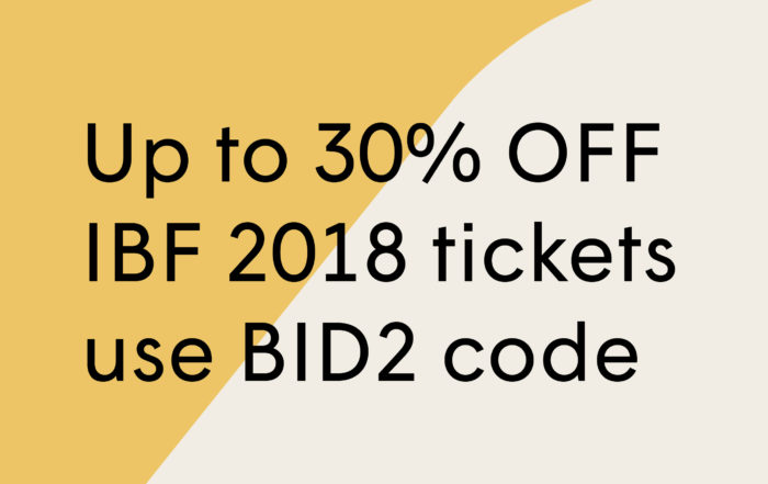 IBF 2018 discount tickets