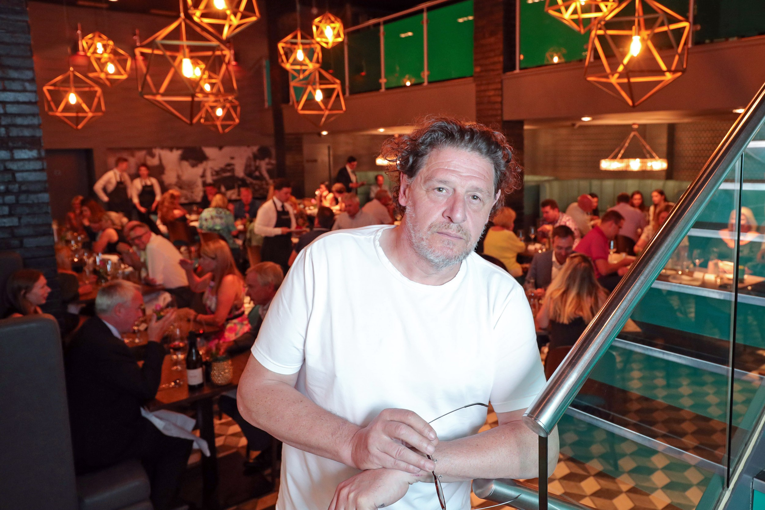 Marco Pierre White helps launch new summer menu  at his Steakhouse Bar and Grill Liverpool