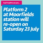 Moorfields Station refurbishment to be completed this month