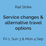Liverpool Rail strike – Friday 1, Sunday 3 and Monday 4 September – Advice for travellers