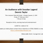 An Audience with Snooker Legend Dennis Taylor