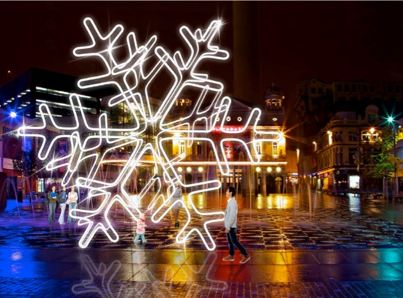 The First Snowflake - Williamson Sq