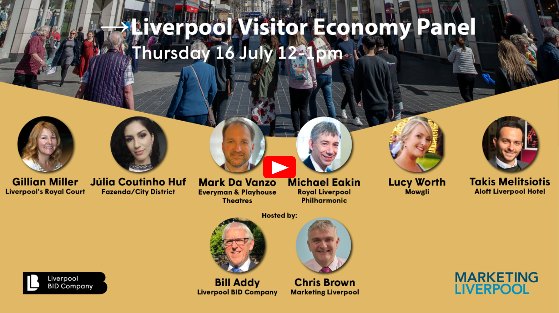 Watch the Liverpool Visitor Economy Panel video from 16 July