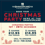 Christmas at The Shakespeare