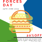 Get 20% off your food and drinks this National Armed Forces Day at Holiday Inn.