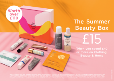 Get a Summer Beauty Box worth £110 for just £15 at Marks & Spencers