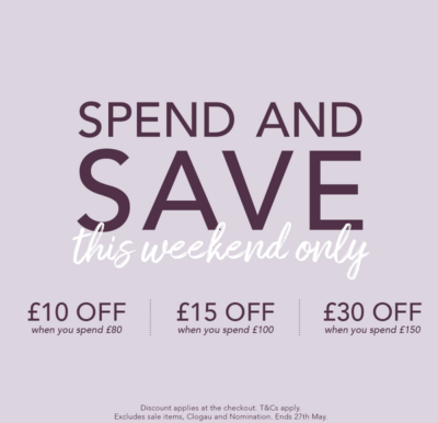 Enjoy various discounts when spending at Moccoco this bank holiday weekend.
