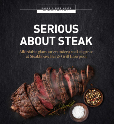 Marco Pierre White Steakhouse Bar & Grill Liverpool lends support to National Steak Day