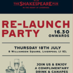 Be a part of the  grand re-opening party of The Shakespeare