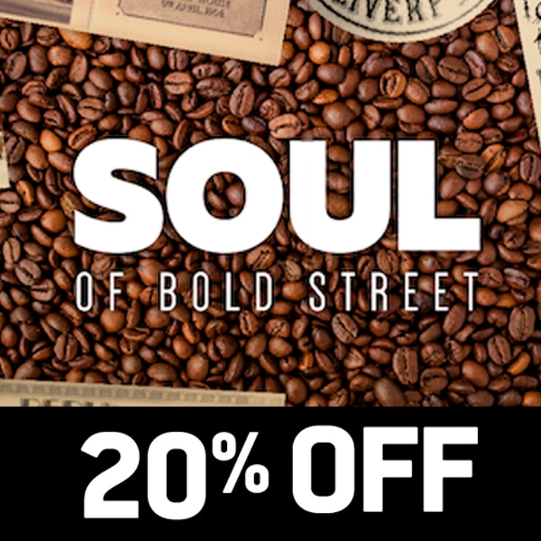 20% off during January at Soul of Bold Street