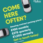 Get reduced prices on your car parking at St Johns with new contract parking