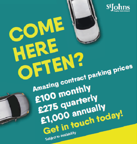 Get reduced prices on your car paring at St Johns with new contract parking