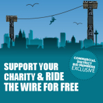 Support your charity &  ride the Wire for free